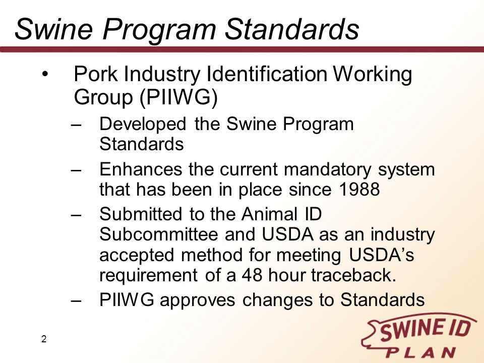 Swine Program Standards