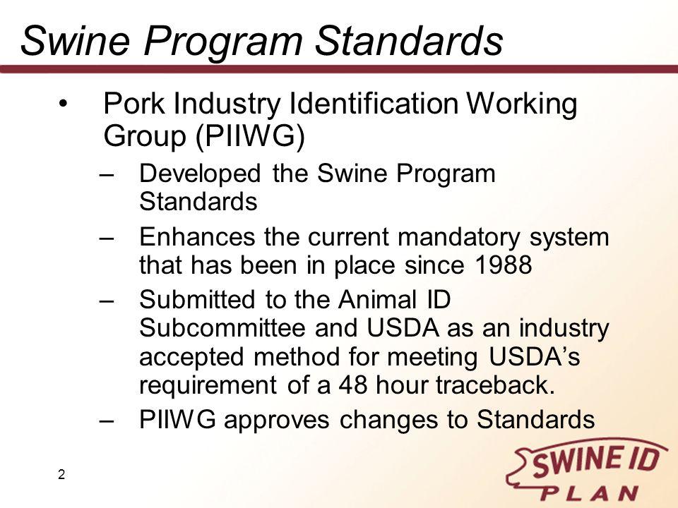 Swine Program Standards