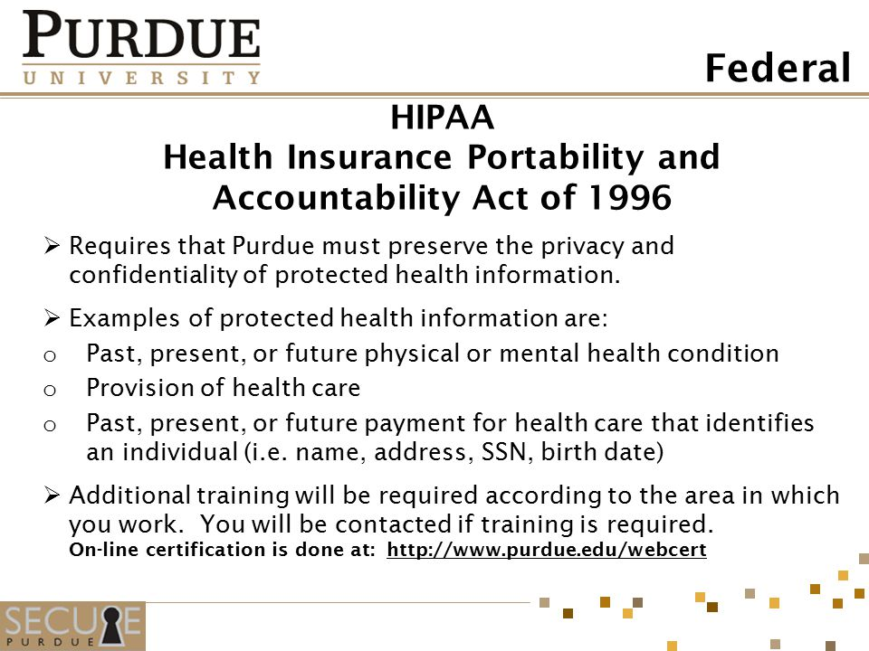 history of health insurance portability and accountability act hipaa essay Summary of the hipaa privacy the health insurance portability and accountability act of one of which is a health plan, the hipaa.