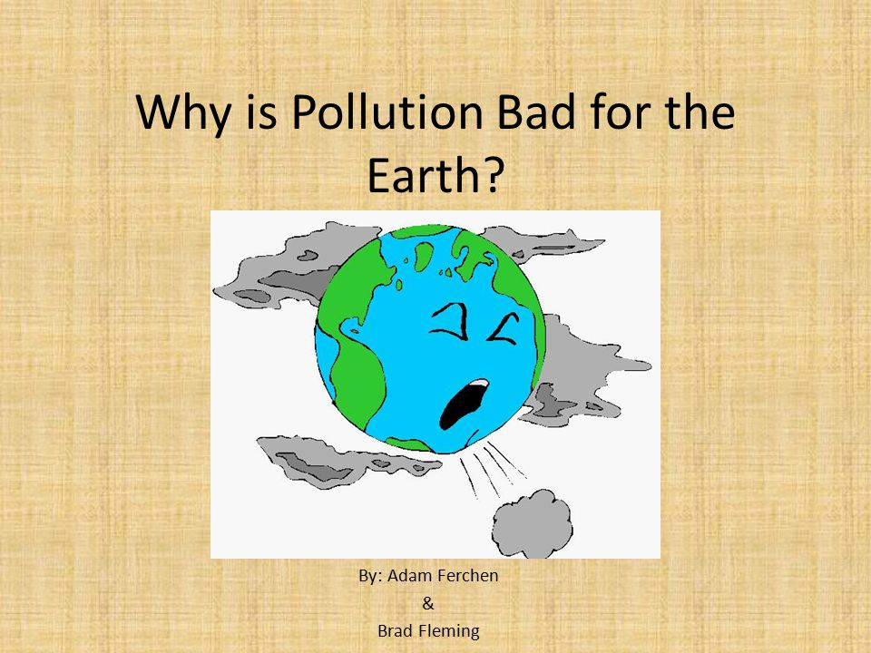 Why is Pollution Bad for the Earth