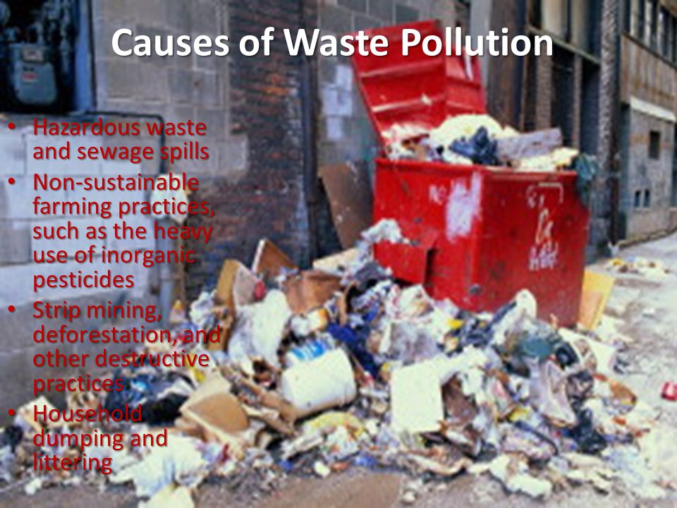 Causes of Waste Pollution
