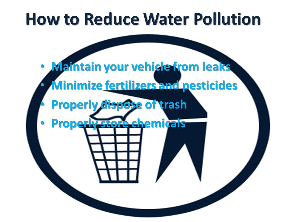 How to Reduce Water Pollution
