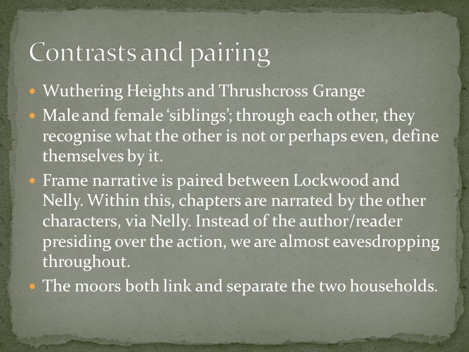 Clashing contrasts in the characters of edgar and heathcliff in the novel wuthering heights by emily