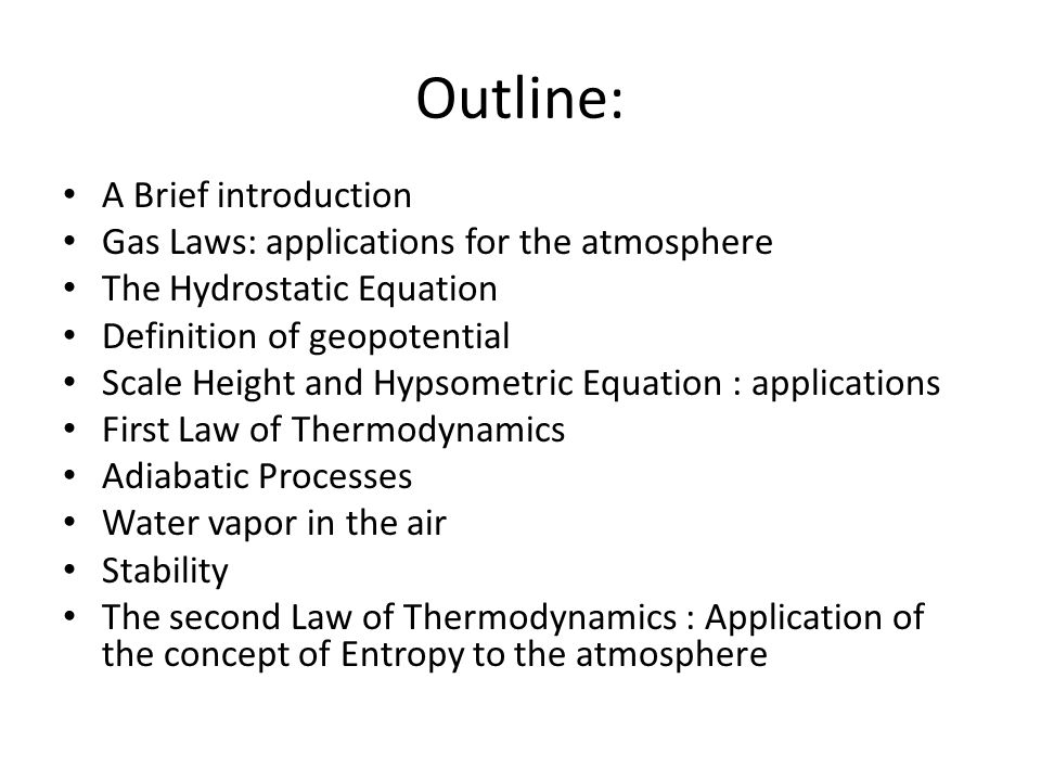 atmospheric thermodynamics Aviation meteorology : atmospheric thermodynamics 2 and dynamics rev 17 — page content was last changed 12 november 2013.