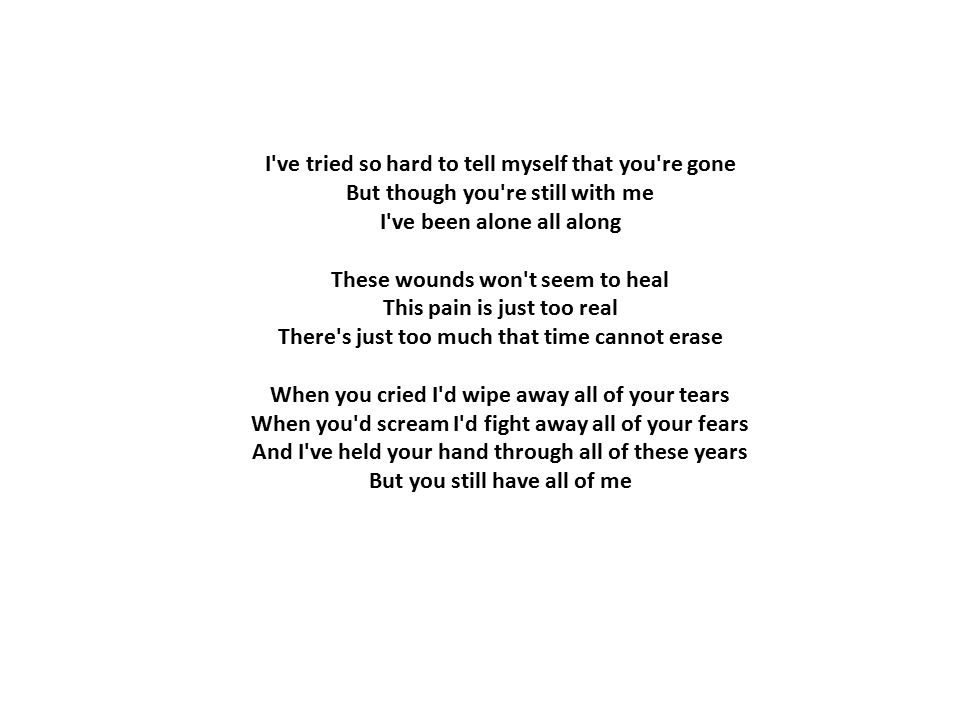 Lyrics I'm so tired of being here Suppressed by all my childish ...