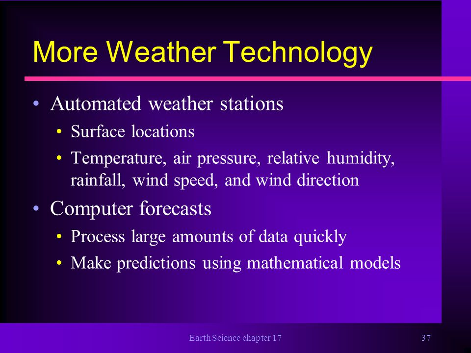 More Weather Technology
