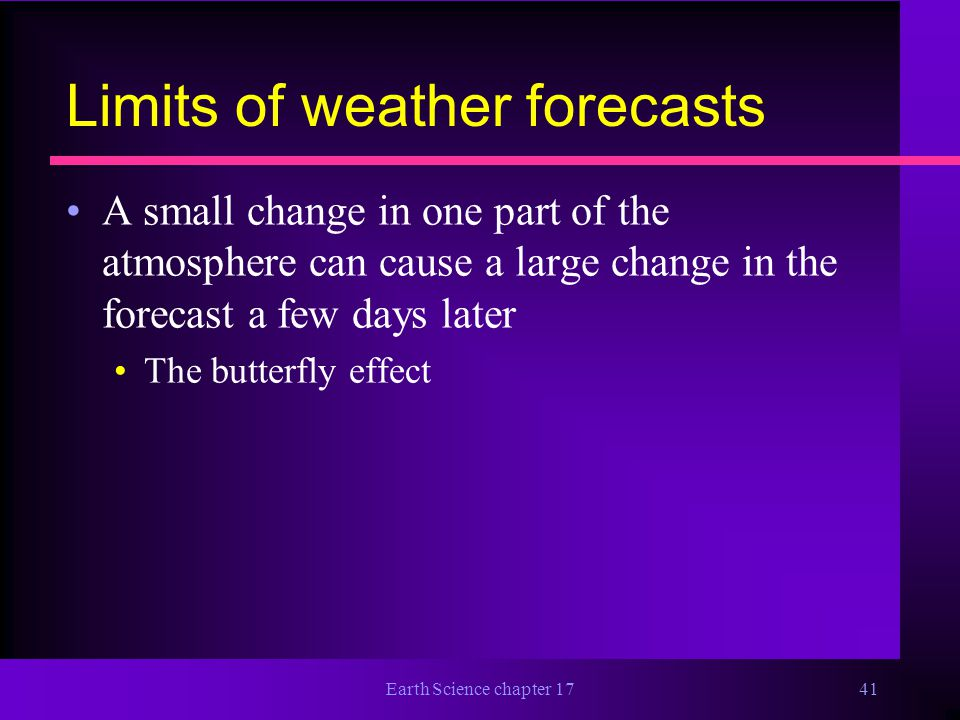 Limits of weather forecasts