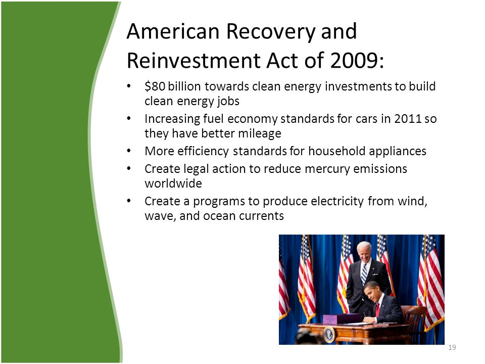 American recovery and reinvestment act 2009 essay