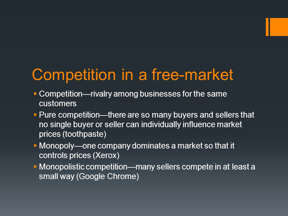 Competition in a free-market
