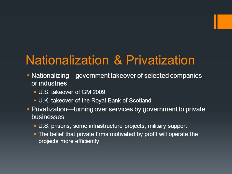 Nationalization & Privatization