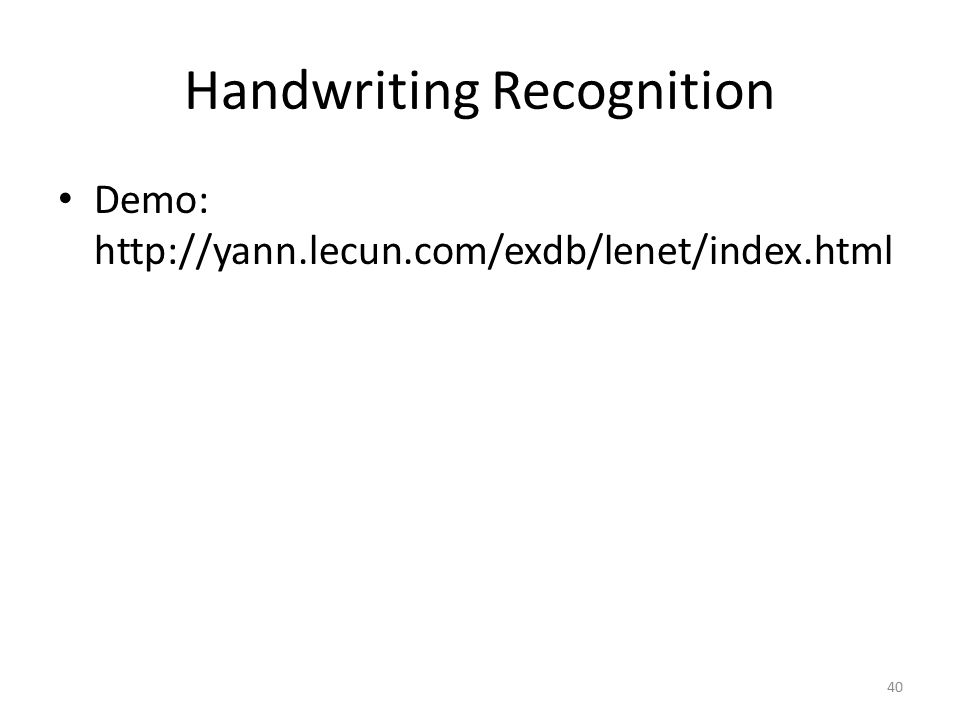 Handwriting Recognition