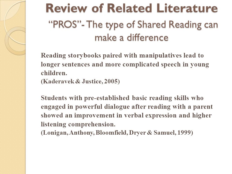 review of related literature on reading skills