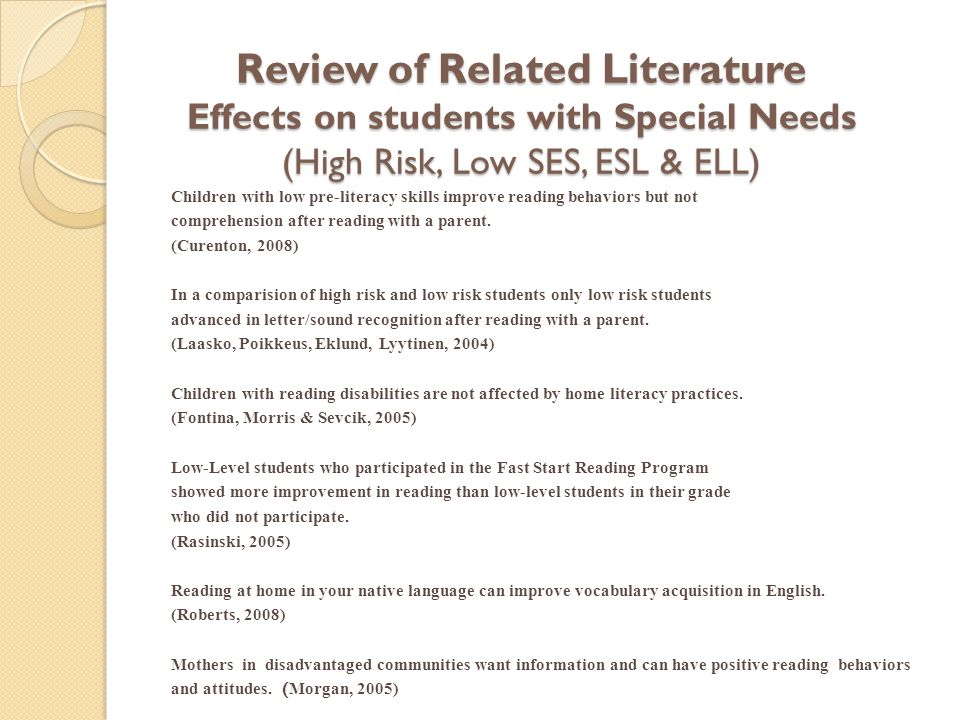 review of related literature on student