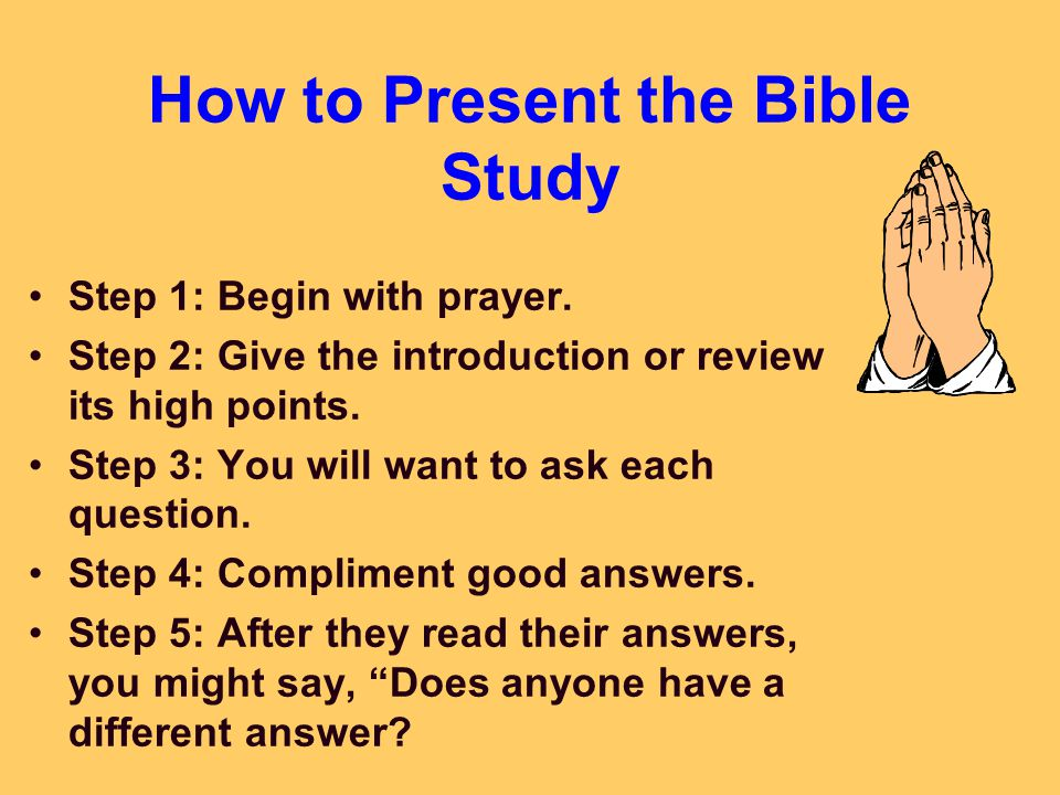 Bible study review questions