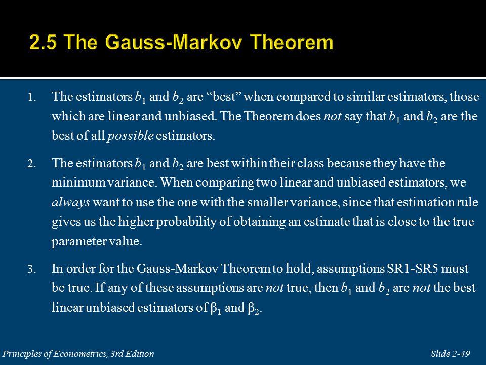 gauss markov theorem Ols in matrix form 1 the true model  on a trivial theorem about rank,  4 the gauss-markov assumptions 1 y = x .