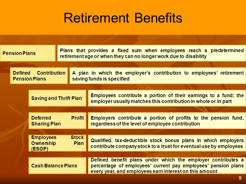 pension plans and their benefits Help your clients capitalize on their pension plans using life insurance for  pension plans and are comfortable using a portion of their pension benefit to fund a.