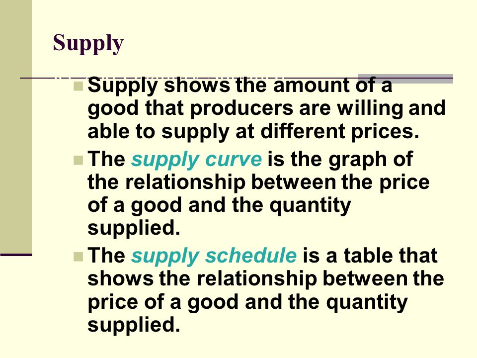 relationship between price and quantity supplied is direct