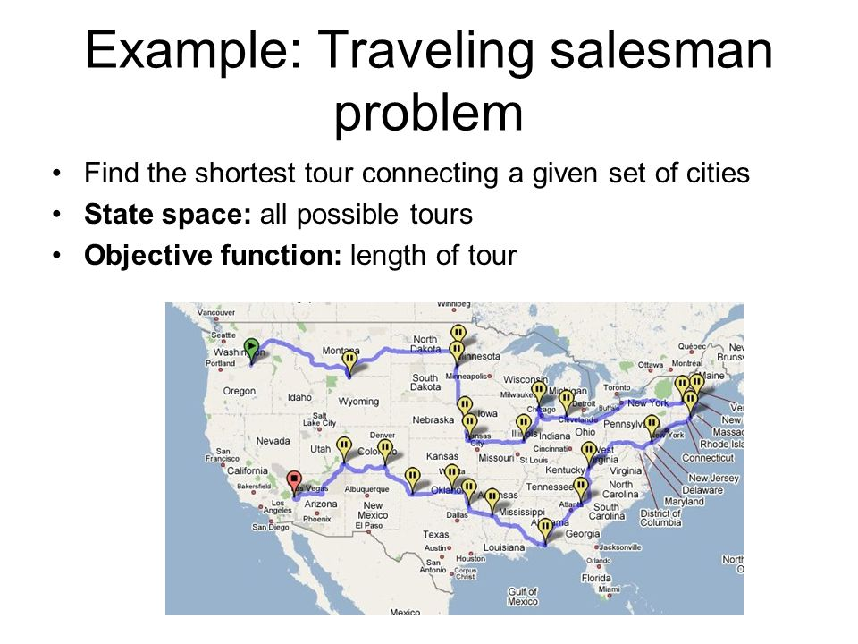 Example: Traveling salesman problem