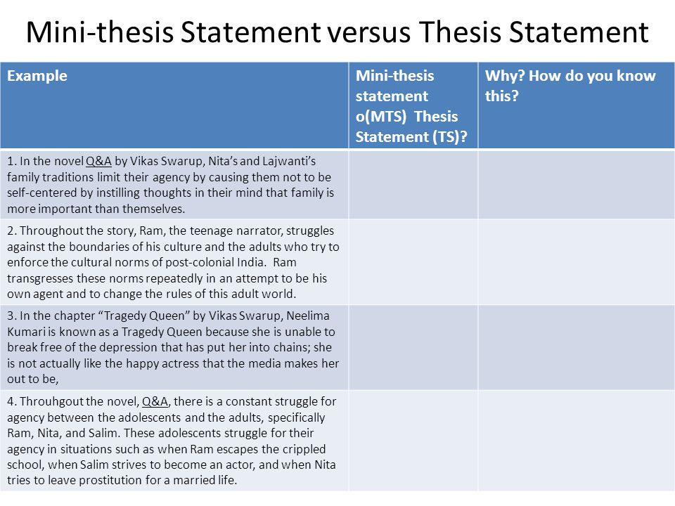 four rules of a thesis statement Your thesis statement is the central argument of your essay  the key difference  between an opinion statement and thesis statement is that a thesis conveys to.