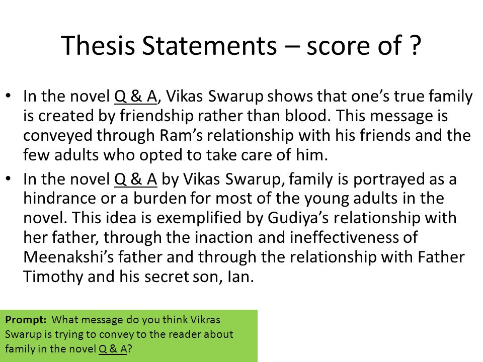 Q and a vikas swarup essay