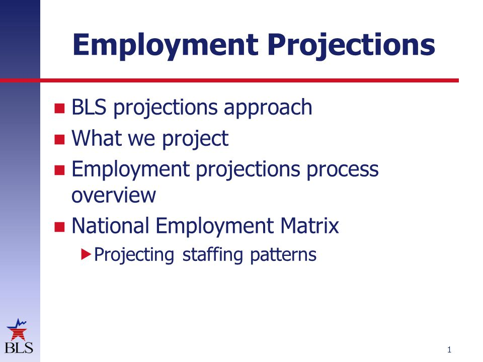 BLS projections approach