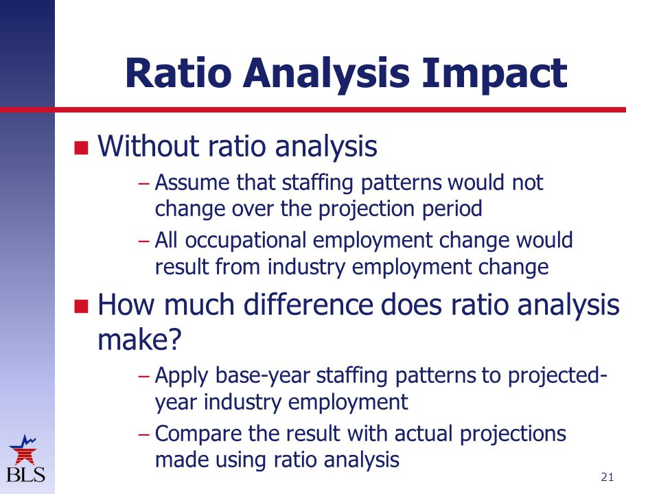 Ratio Analysis Impact Changes total employment by occupation