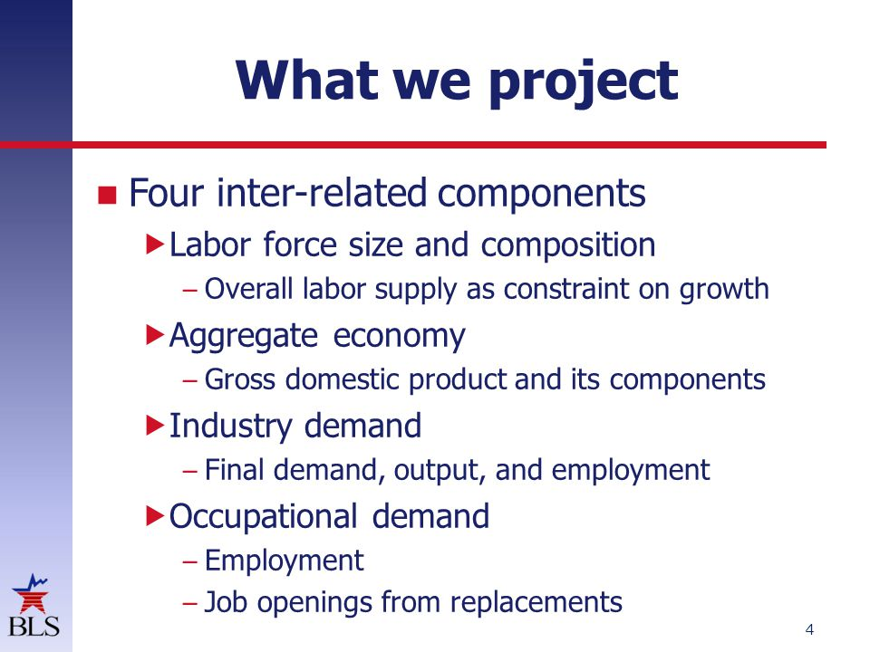 Employment projections process