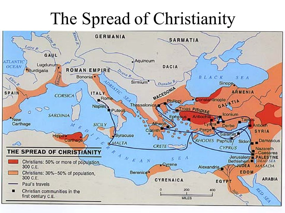 the spread of christianity When did christianity begin to spread the cross-shaped marble baptistery is one of the recent archaeological discoveries at the fourth-century church in laodicea that shows just how old christianity is in turkey.