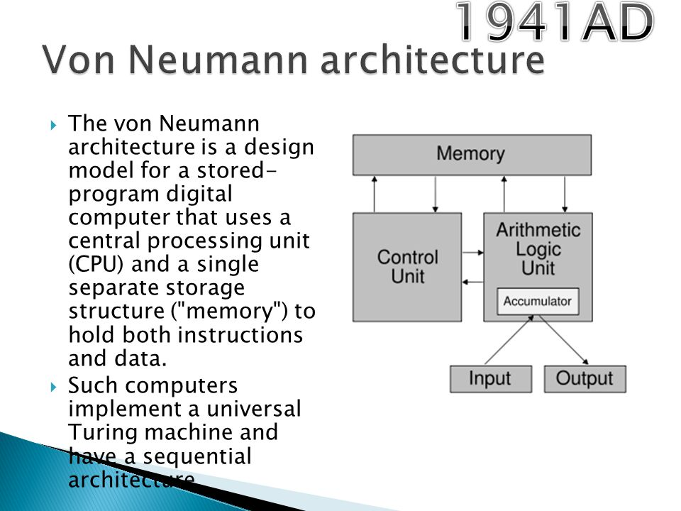 History of computers part 2 modern computers ppt video for Architecture von neumann