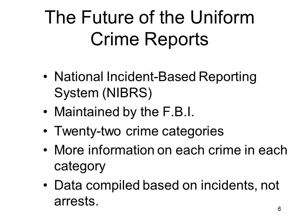 National Incident-Based Reporting System Resource Guide