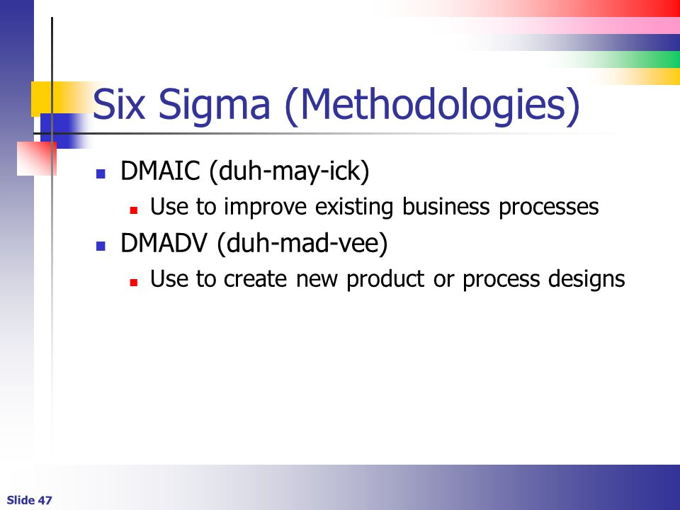 dmadv is a six sigma framework University of central florida electronic theses and dissertations masters thesis (open access) dmarc: a framework for the integration of dmaic and dmadv.