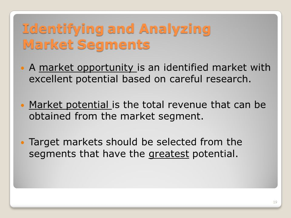 analyzing of potential market of china China medical diagnosis monitoring treatment equipment market report  analyzing your market's potential marketers should perform a detailed analysis of a market segment before  calculate market potential for the hamburger market in clark county 5 estimate a sales forecast for one restaurant.