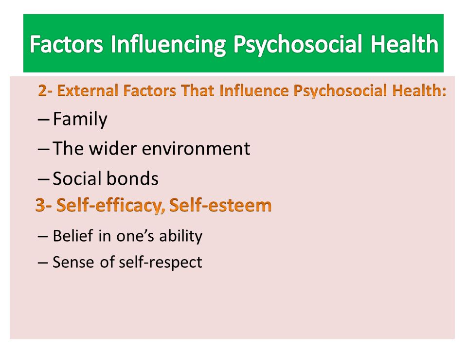internal external factors in health care Various factors affect a person's health, and medical professionals classify them as internal and external internal factors -- also known as.