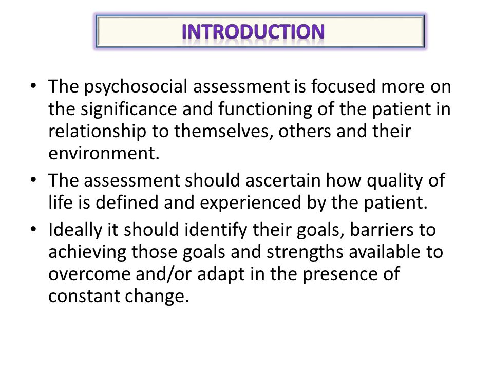 Assessment Psychosocial Health  Self Care  Wellness Activities