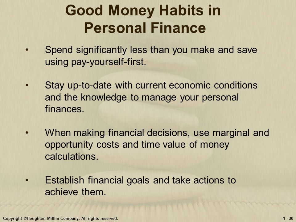 Personal Finance Chapter 1: Understanding Personal Finance. - ppt ...