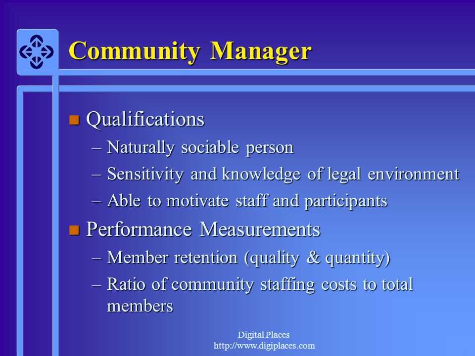 Community Manager Qualifications Performance Measurements