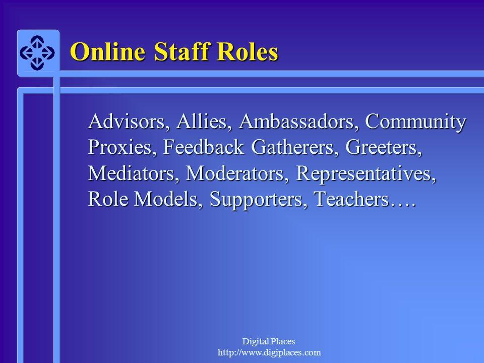 Online Staff Roles