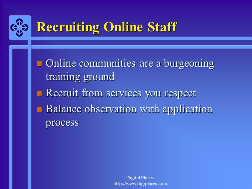 Recruiting Online Staff