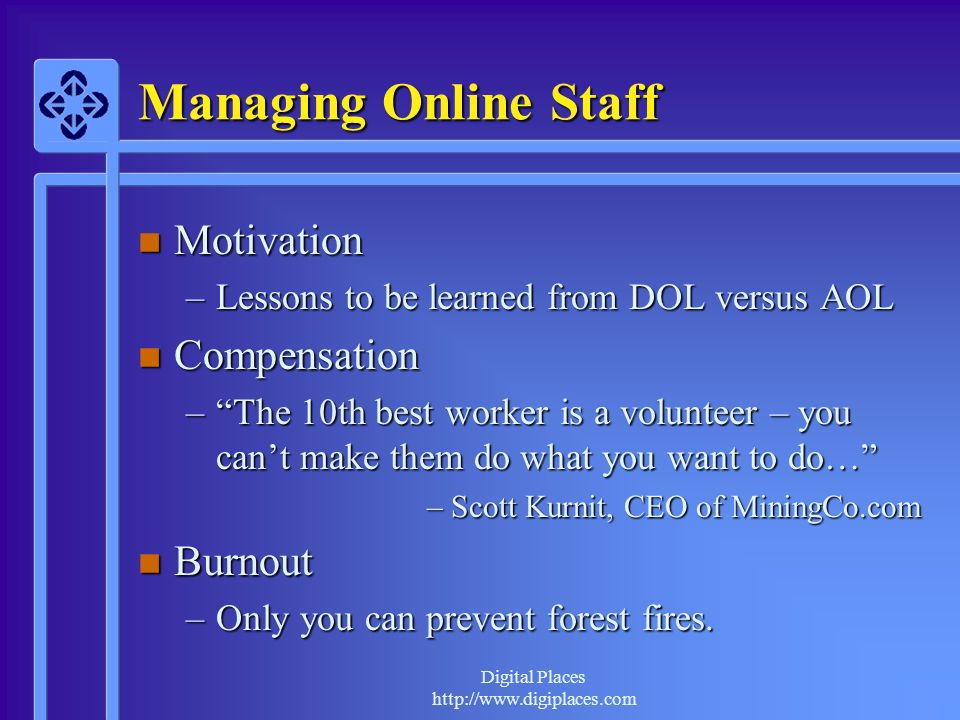 Managing Online Staff Motivation Compensation Burnout