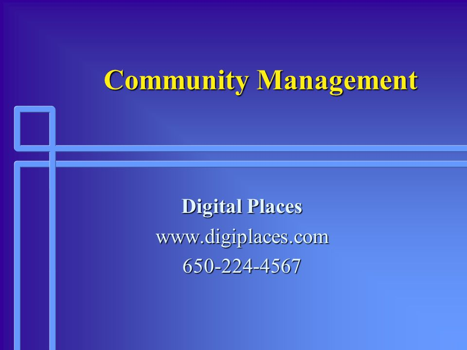 Digital Places www.digiplaces.com 650-224-4567