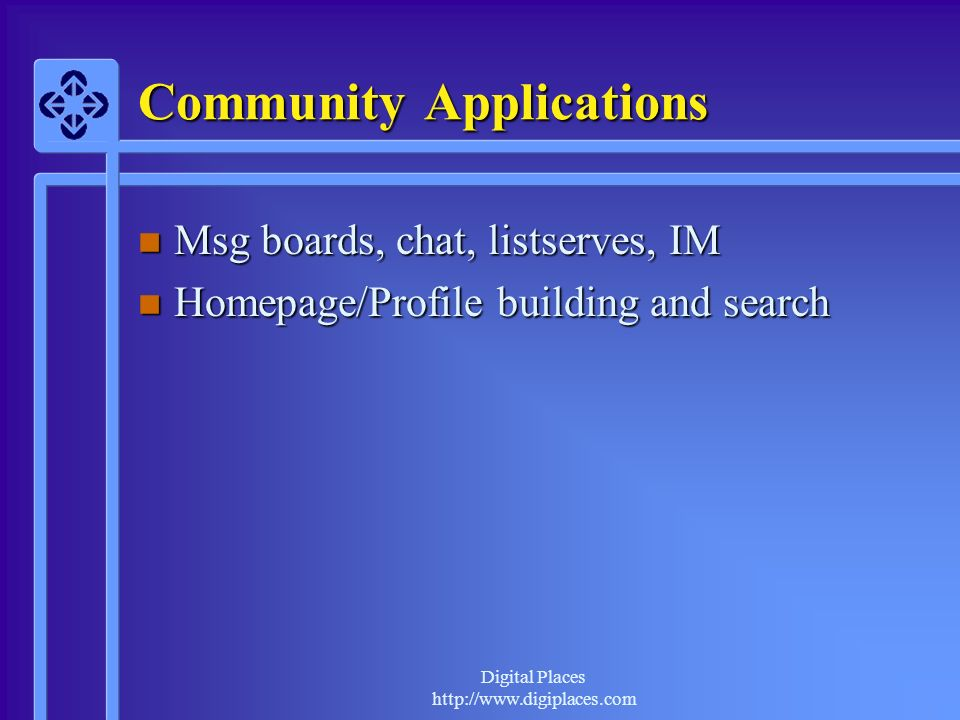 Community Applications