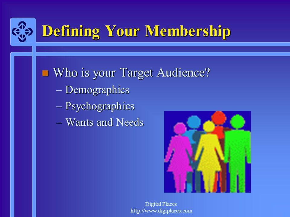 Defining Your Membership