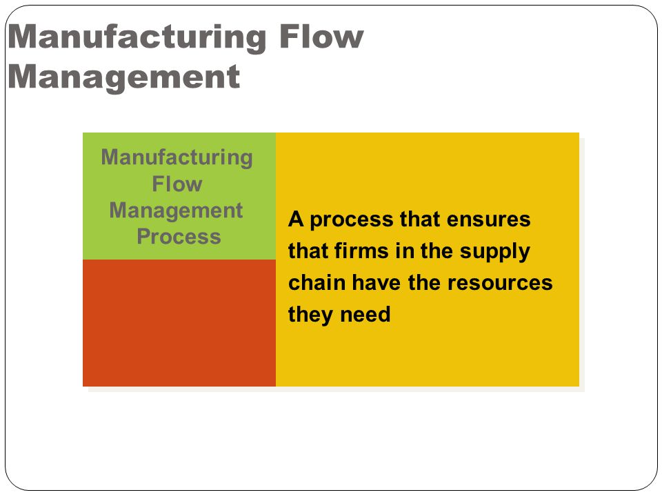 Manufacturing Flow Management