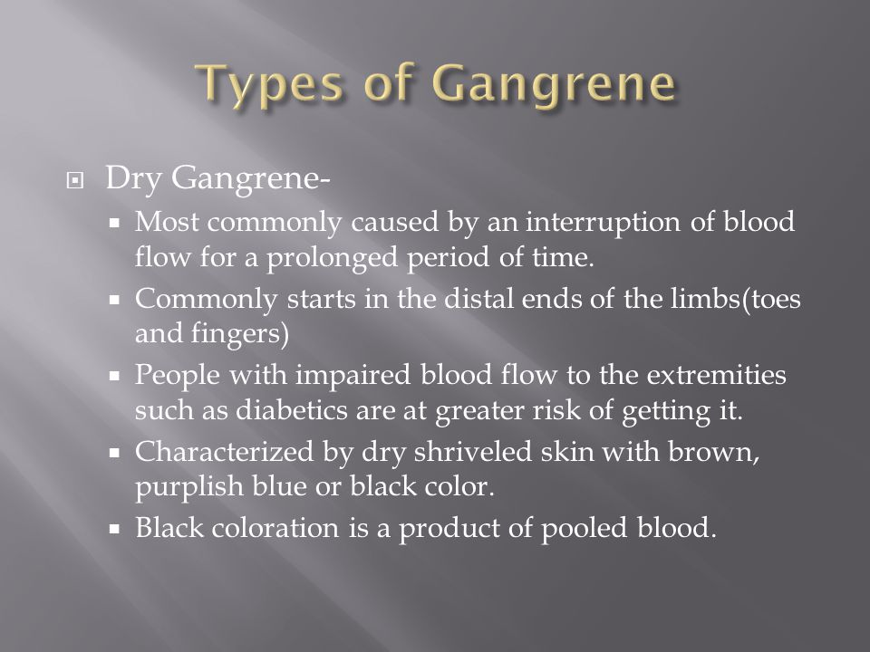 gangrene research When researching disease for a research paper, choose one of the topics below or have paper masters custom write you a unique project choose from any research paper topic on diseases.