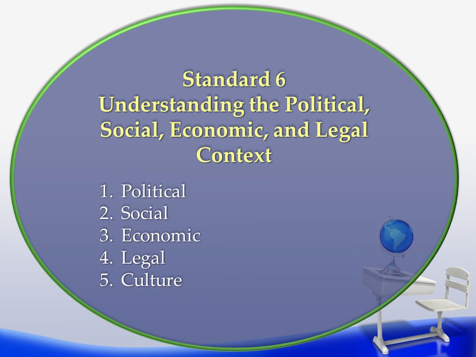 Understanding the Political, Social, Economic, and Legal Context