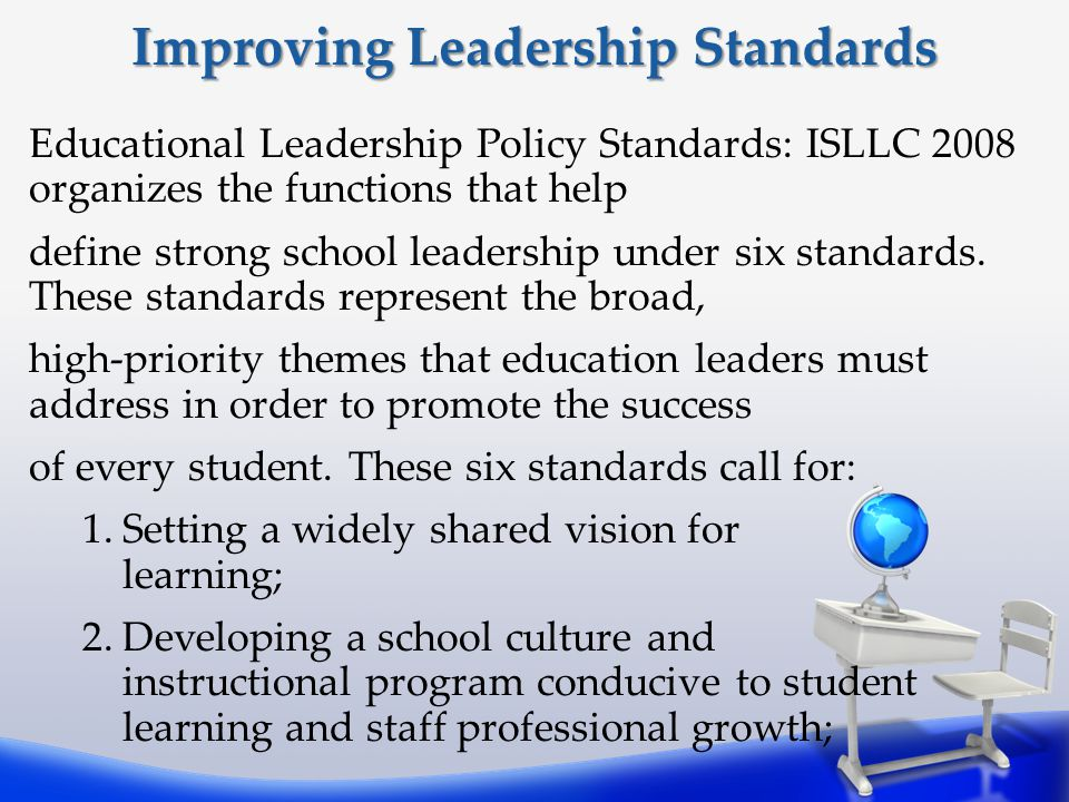 Improving Leadership Standards