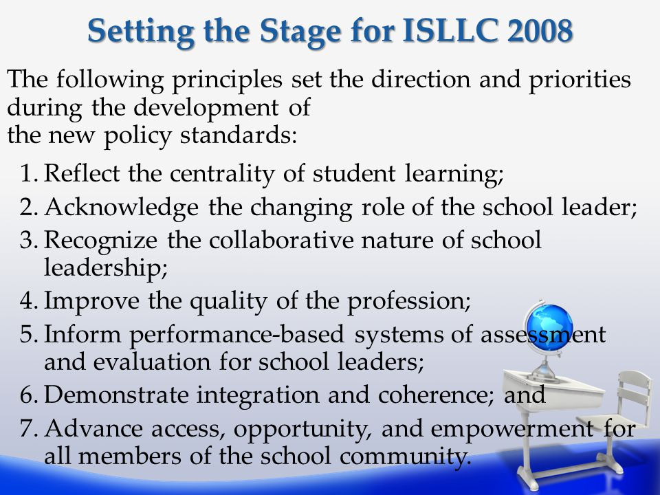 Setting the Stage for ISLLC 2008
