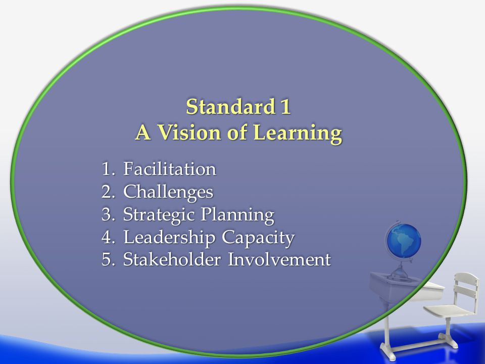 Standard 1 A Vision of Learning