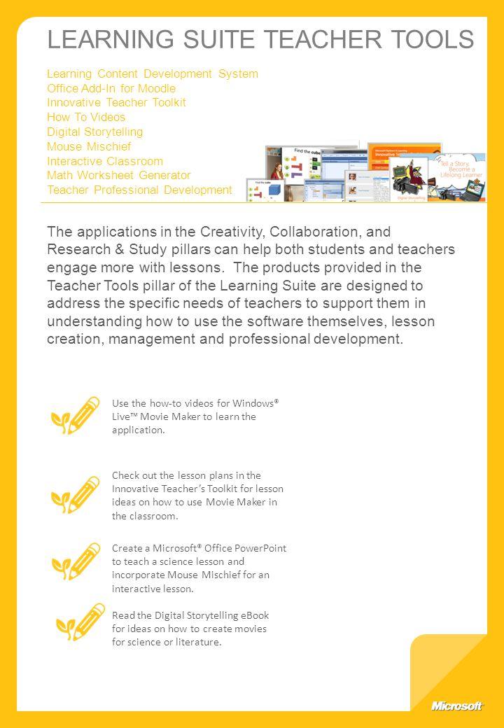 Microsoft Learning Suite ppt download – Microsoft Math Worksheet Generator