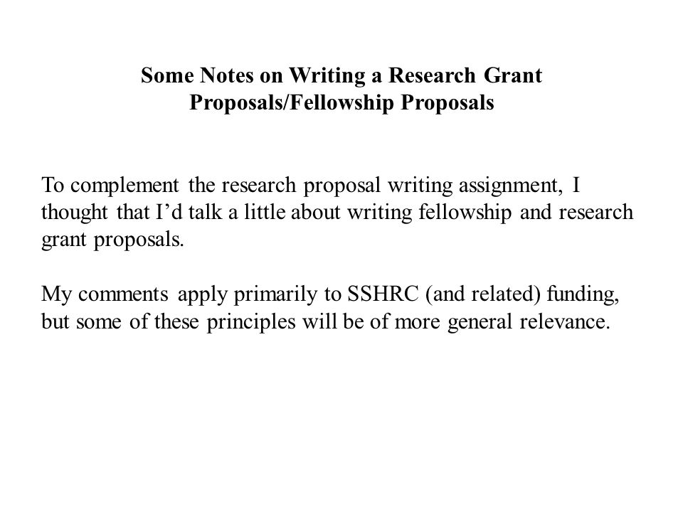 research grant proposal example Examples of successful proposals home the following are examples of successful conservation grant training and research at.